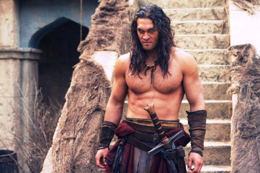"Jasonas Momoa filme ""Konanas Barbaras 3D"""