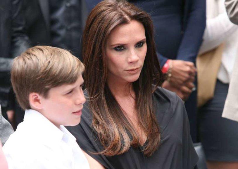 Victoria Beckham su sūnumi Brooklynu