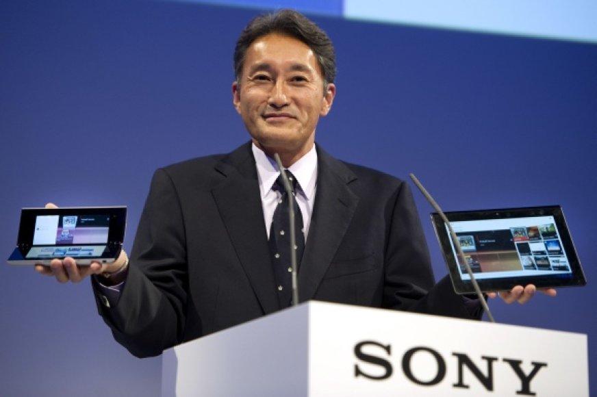 """Nuo balandžio 1 dienos """"Sony"""" prezidento pareigas pradėsiantis eiti Kazuo Hirai."""
