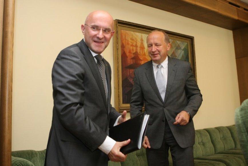 """Orlen Lietuva"" generalinis direktorius Ireneusz Fąfara susitiko su premjeru Andriumi Kubiliumi."