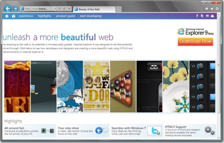 Internet Explorer 9.