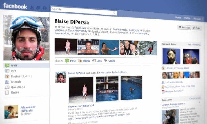 """Taip atrodo naują """"Facebook"""" profilį pasirinkusio vartotojo anketa."""