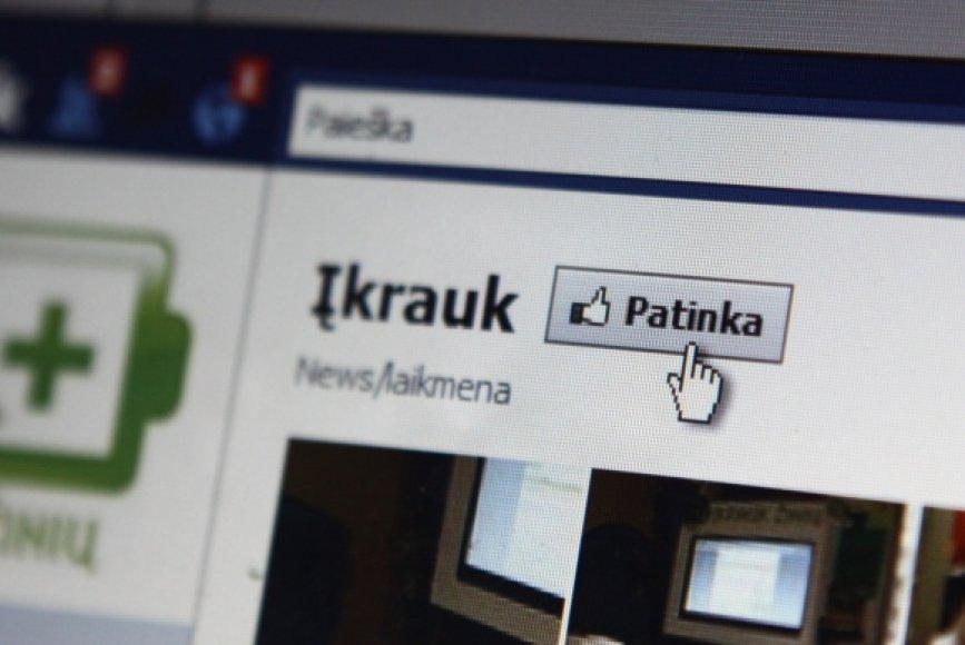 """""""Facebook"""" mygtukas """"Patinka"""""""