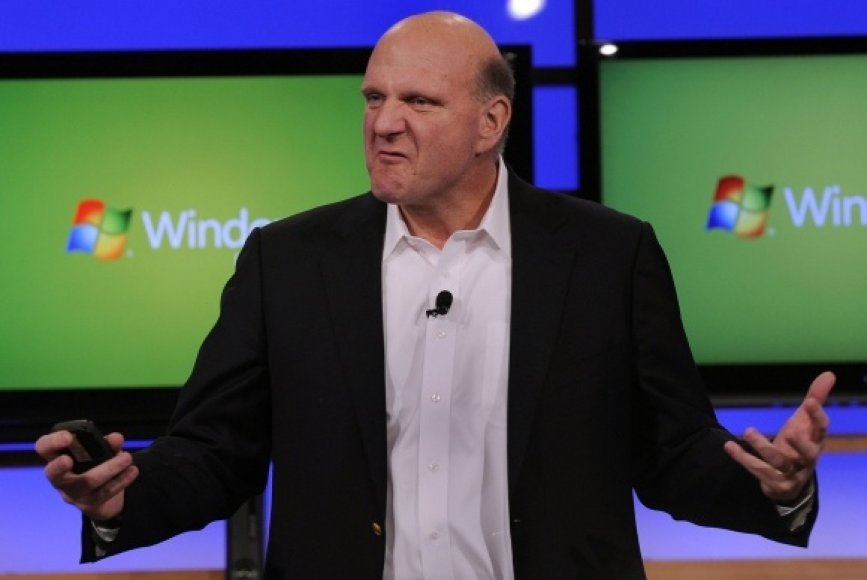 """Microsoft"" generalinis direktorius Steve'as Ballmeris"