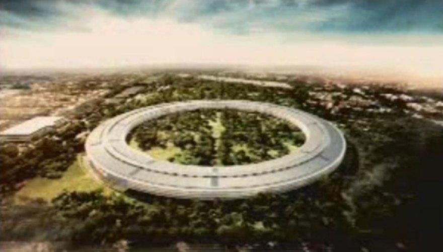 """Naujosios """"Apple"""" darbo patalpos primins milžinišką kosminį laivą."""
