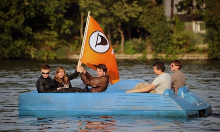 """Vokietijos """"Piratų partijos"""" rėmėjai"""