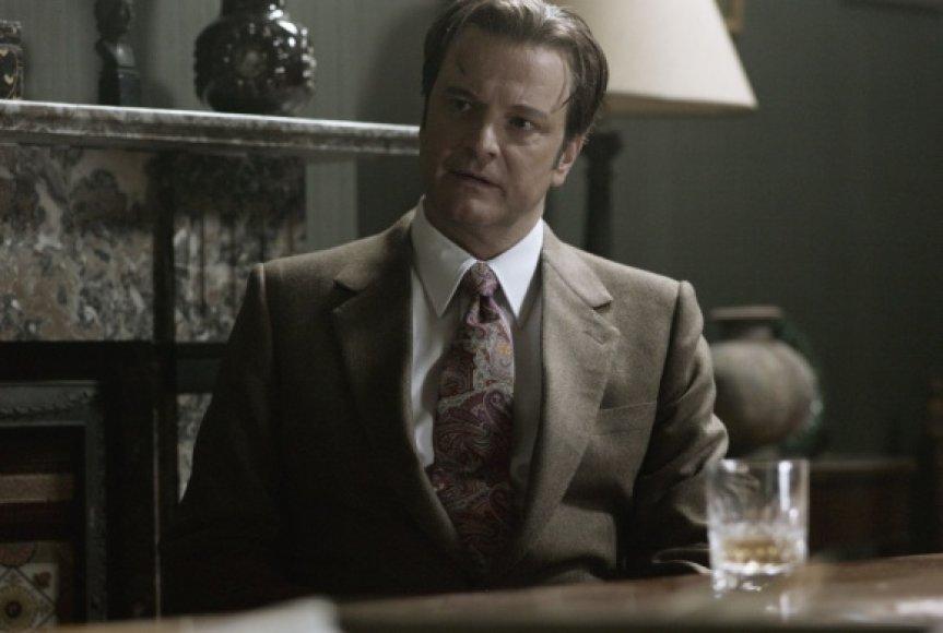 """Colinas Firthas trileryje """"Bastūnas, siuvėjas, kareivis, šnipas"""""""
