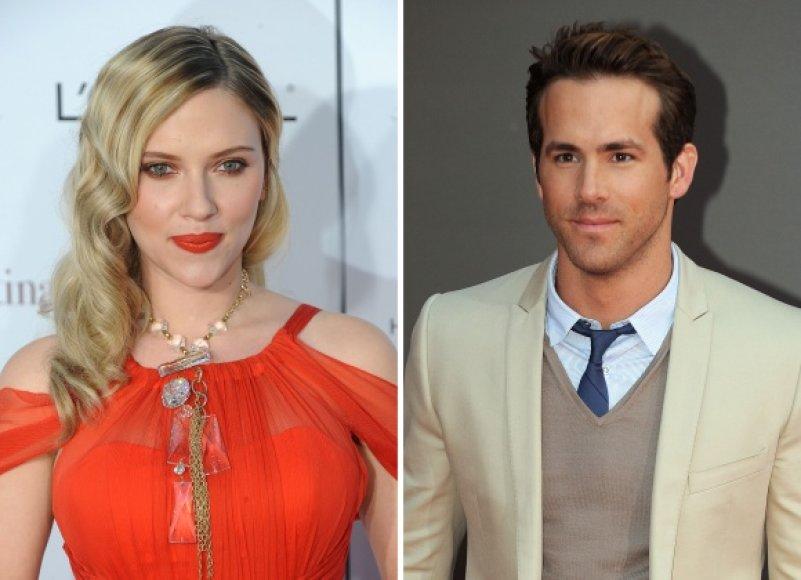 Scarlett Johansson ir Ryanas Reynoldsas