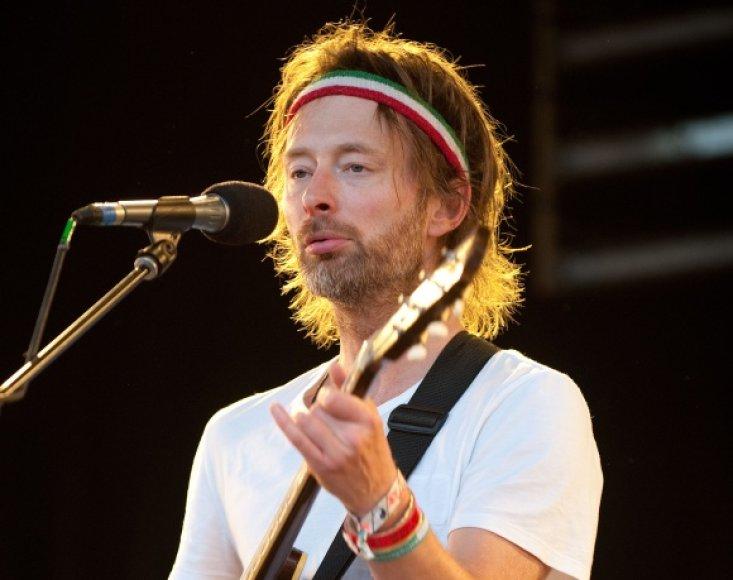 """""""Radiohead"""" lyderis Thomas Yorke"""