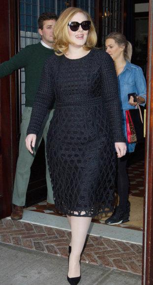 """Burberry"" nuotr./Adele, vilkinti ""Burberry"" suknelę"