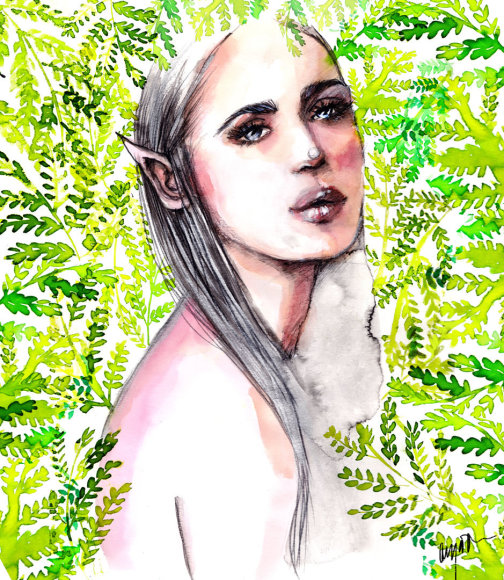 Anya Dee mados iliustracija