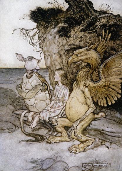 """Vida Press nuotr./Arthuro Rackhamo iliustracija knygai """"Alisa stebuklų šalyje"""""""