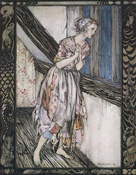 "Vida Press nuotr./Arthuro Rackhamo iliustracija pasakai ""Pelenė"""