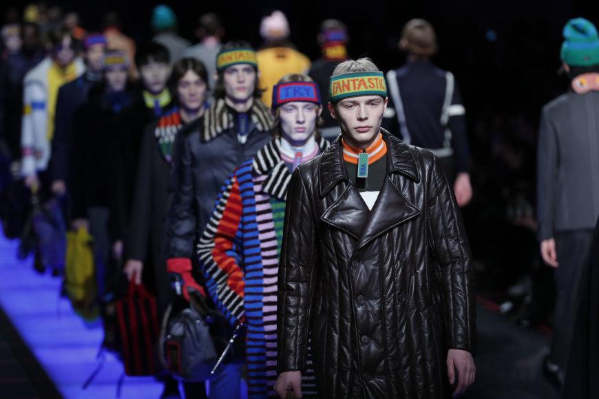 """Vida Press nuotr./""""Fendi"""" 2017-2018 m. rudens-žiemos kolekcijos vyrams modelis"""