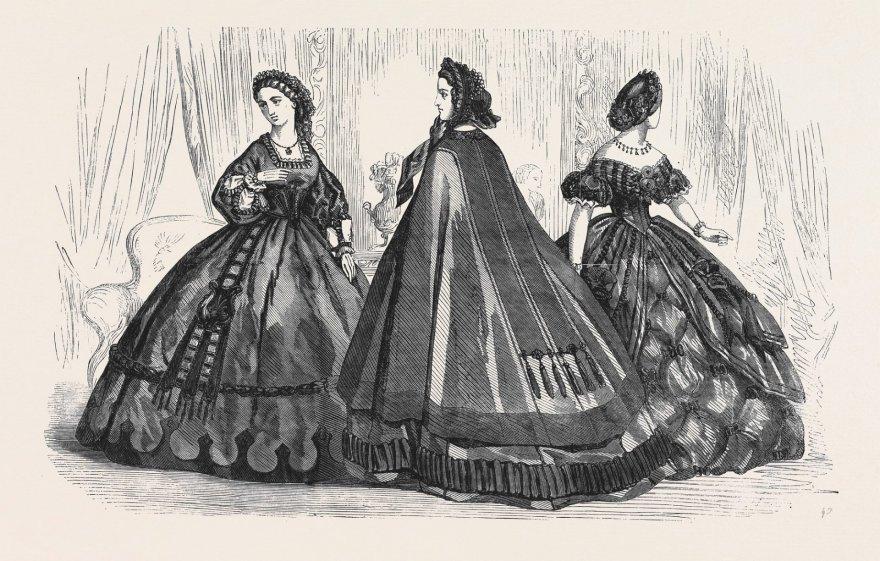 Vida Press nuotr./Gedulo kostiumai iš 1861 m. mados žurnalo