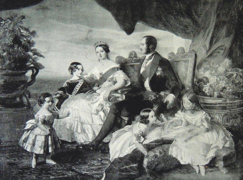 Vida Press nuotr./Laiminga karalienės Viktorijos šeima (1846 m.)
