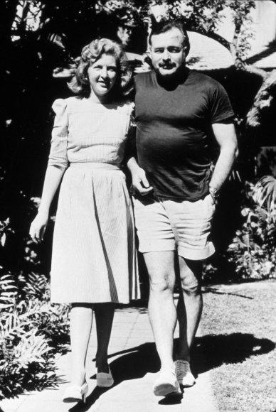 Vida Press nuotr./Ernestas Hemingway ir Martha Gellhorn 1941 m.