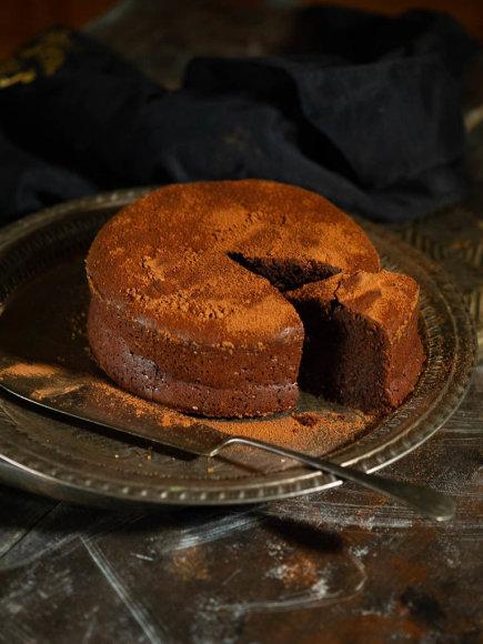Šventinis šokoladinis migdolų pyragas