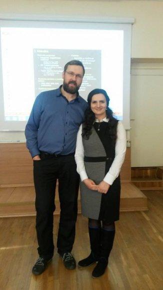 Asmeninio albumo nuotr./Irina Černiukė su vyru