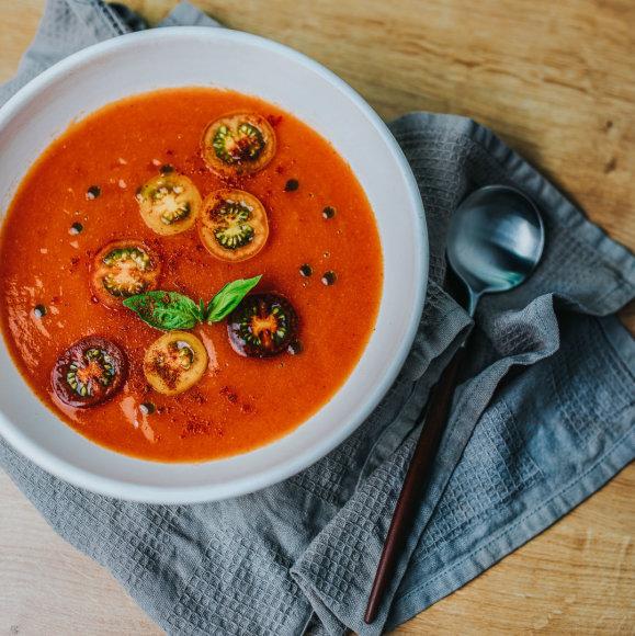 Valerijos Sto nuotr. /Šalta pomidorų sriuba