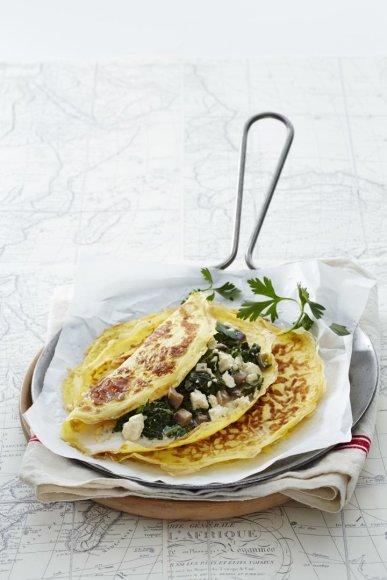 Omletas su žalumynais ir sūriu