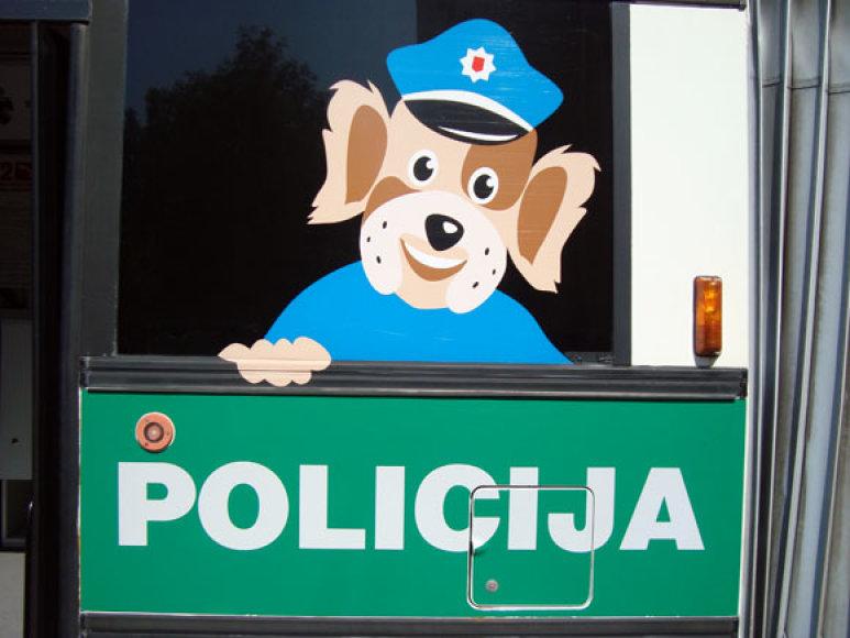 Policijos šventės akimirka.