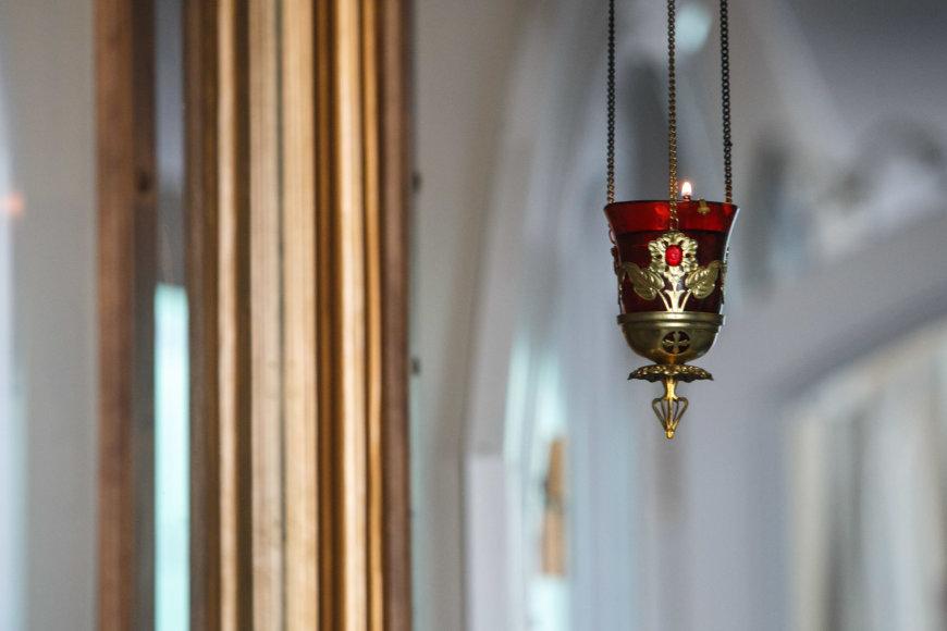 Eriko Ovčarenko / 15min nuotr./Pamaldos cerkvėje