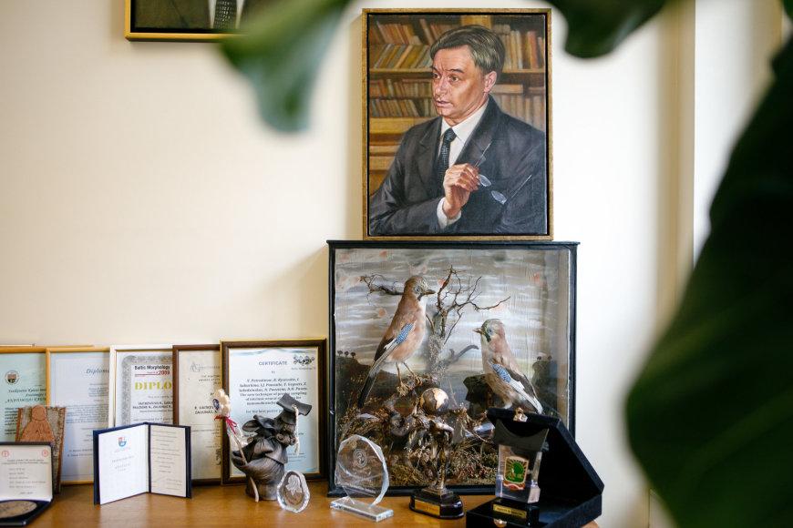 Eriko Ovčarenko / 15min nuotr./LSMU Anatomijos instituto vadovo kabinete