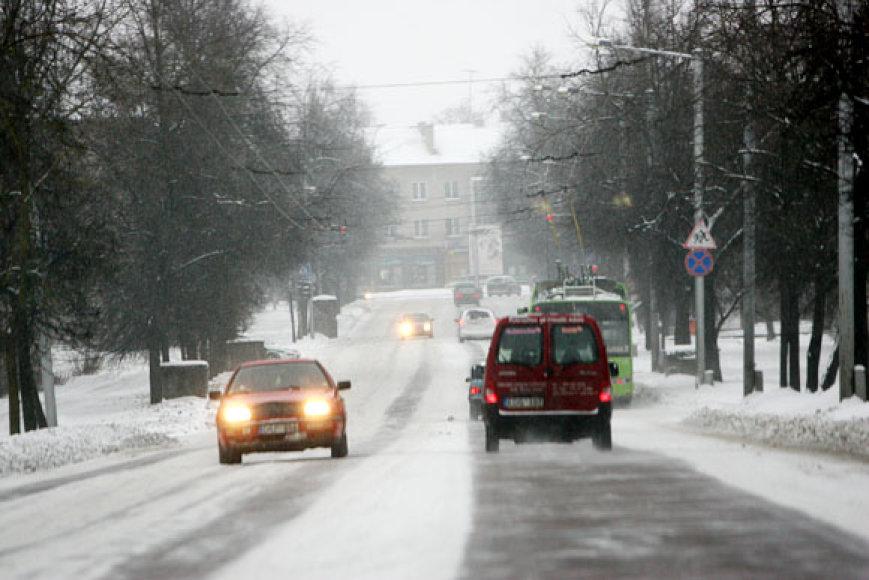 Miestas žiemą
