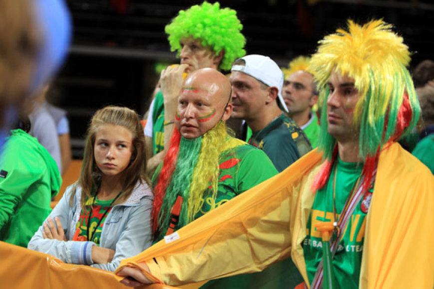 Lietuvos sirgaliai po rungtynių su Makedonija