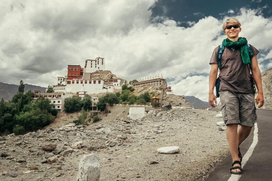 Shutterstock nuotr./Turistas Indijoje