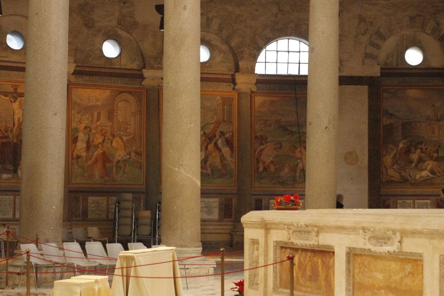 Gabijos Karlonaitės nuotr./Bazilika Santo Stefano Rotondo