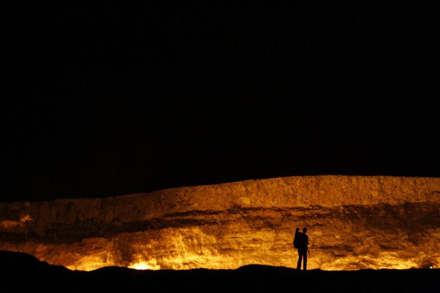 Živilės Necejauskaitės nuotr./Darvaza kraterio mastas