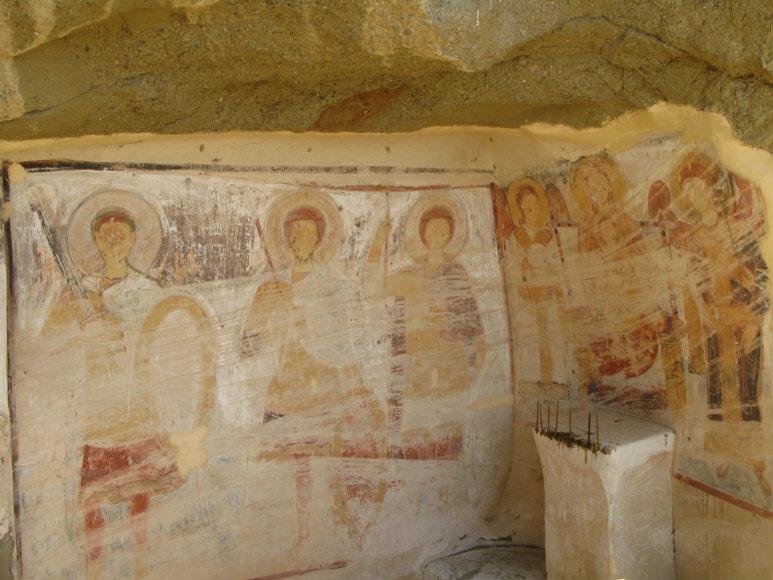 Godos Juocevičiūtės nuotr./David Garedži vienuolyno freskos