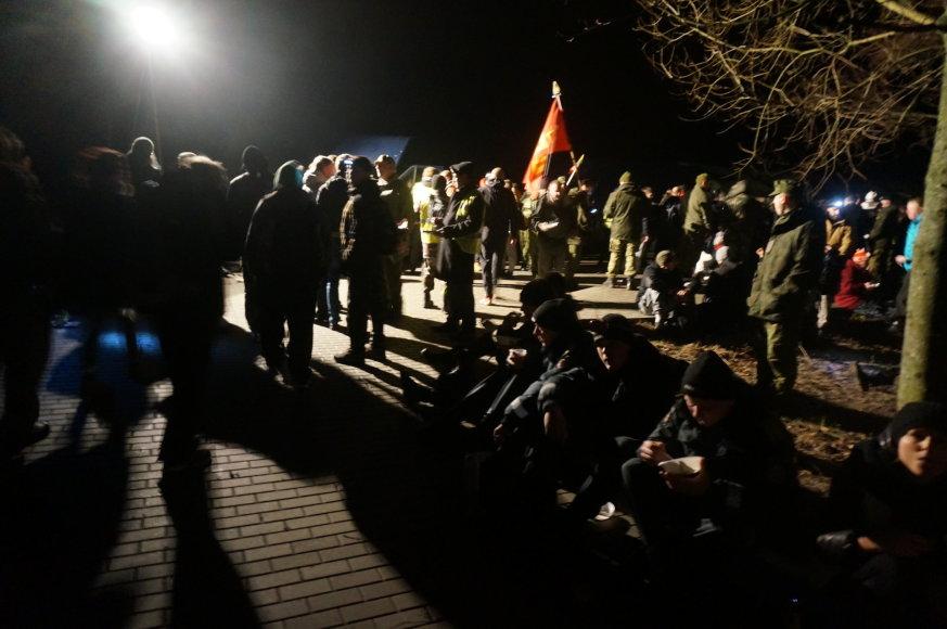 Organizatorių nuotr./22 val. prasidėjęs žygis tęsiasi iki ankstyvo ryto