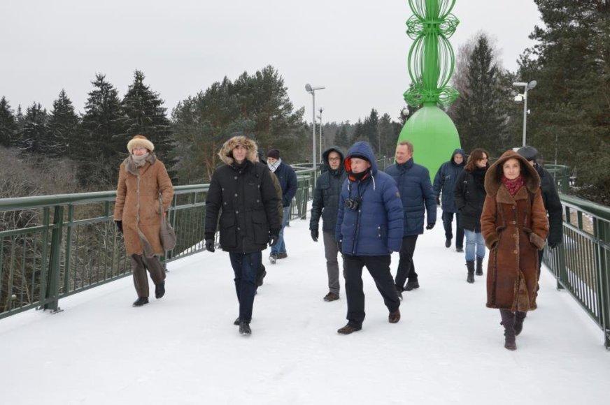Alytaus miesto savivaldybės nuotr./Pėsčiųjų ir dviračių tiltas Alytuje jau atidarytas