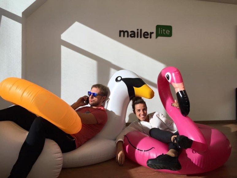 """""""MailerLite"""" nuotr./Kompanijos """"MailerLite"""" darbuotojai"""