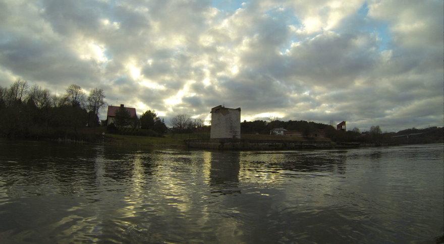 Asmeninė nuotr./Vaizdas iš Nemuno, plaukiant nuo Kauno HES'o iki Senamiesčio