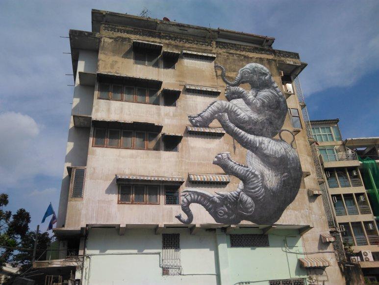 Asmeninė nuotr./Gatvės menas Bankoke