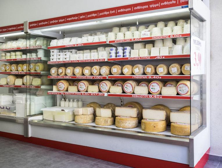 123rf.com/Heraklionas – kretietiškų sūrių parduotuvė