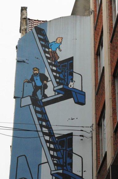 Saulės Paltanavičiūtės nuotr./Komiksai – belgų kultūros dalis (pavaizduotas Tintinas su šunimi Sniegeliu)