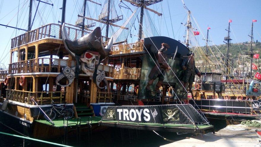 Autorės nuotr./Piratų laivai