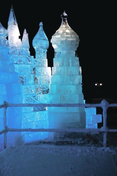 Oficialiai ledo rūmai Kaune bus atidaryti šį šeštadienį, tačiau pažiūrėti, kaip jie statomi galima jau dabar.