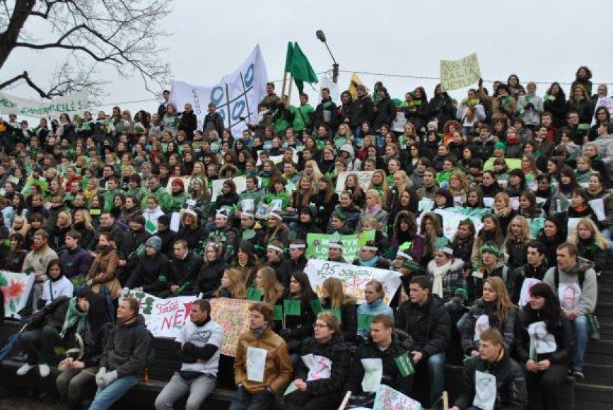 Kauno kolegijos studentų ekoparadas