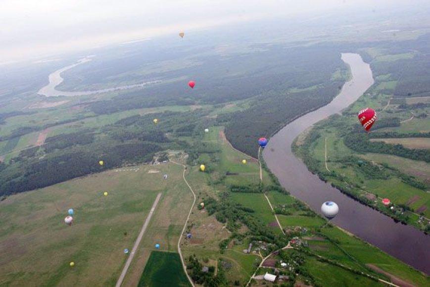 Karšto oro balionų čempionato akimirka