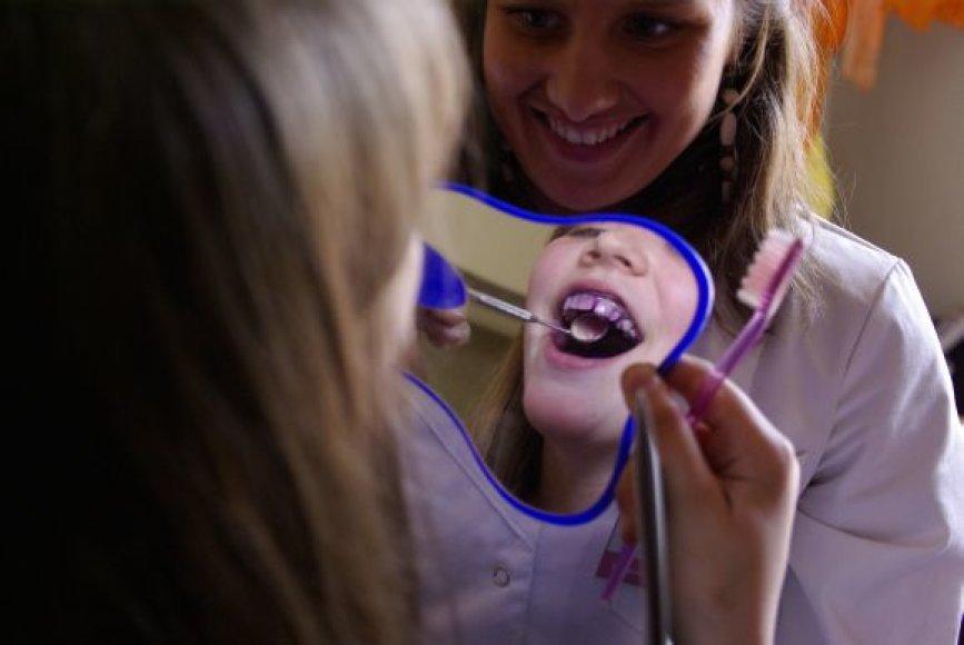 Dantų tikrinimo akcija