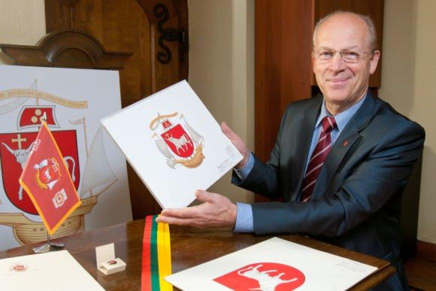 Kauno miesto ceremonmeisteris K.Ignatavičius ragina kauniečius didžiuotis savo miesto heraldika, kuri – išskirtinė ir pažymi miesto istoriją bei siekius.