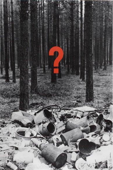 Vienas iš V.Kaušinio sukurtų plakatų. Tuomet jis buvo neįprastas.
