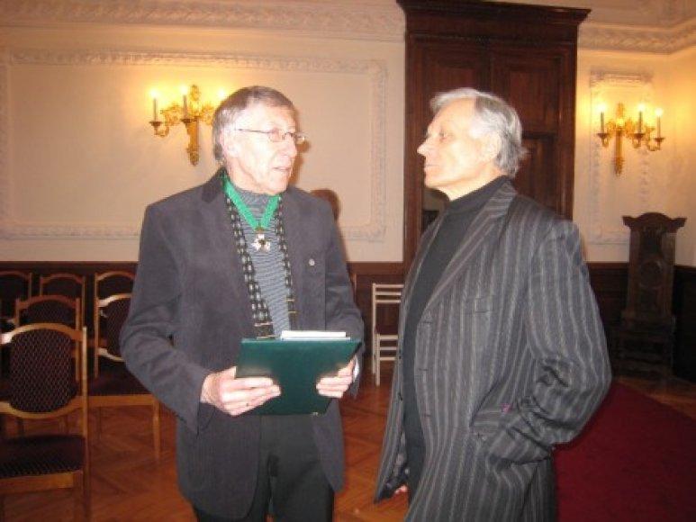 G.Kuprevičius ir Kauno valstybinio choro vadovas Petras Bingelis