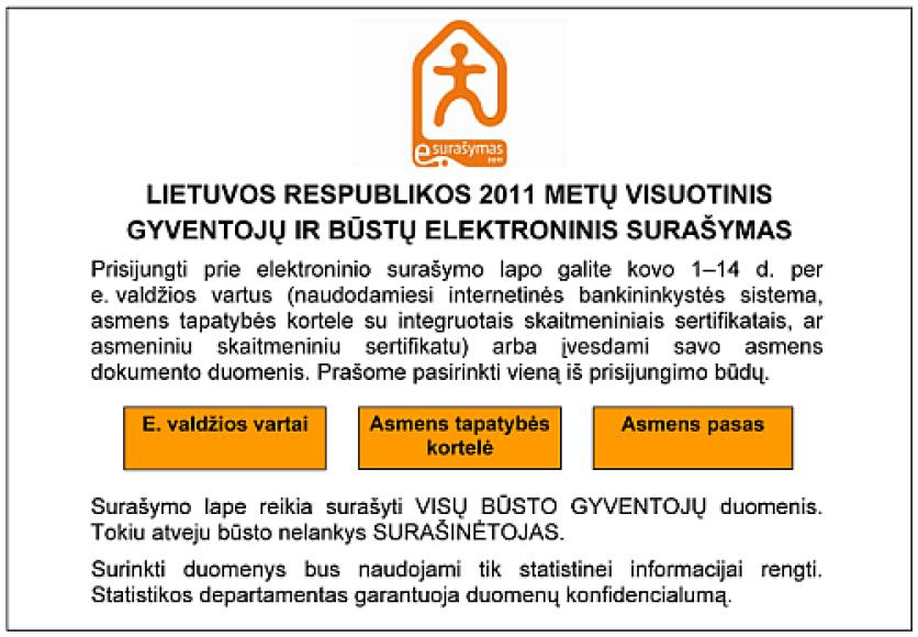 Elektroninio surašymo sistemoje per pirmąsias dvi dienas duomenis apie save pateikė apie 85 tūkst. Lietuvos gyventojų.